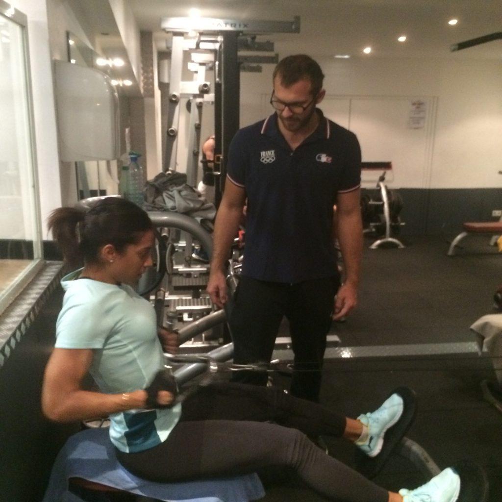 Ludovic Perge training