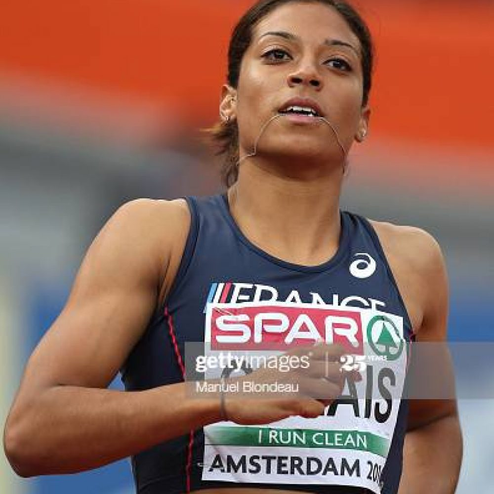 Jennifer Galais of France in action during the semi final of the women 100m during the European Athletics Championships  at Olympic Stadium on July 8, 2016 in Amsterdam, Netherlands. (Photo by Manuel Blondeau/Icon Sport) (Photo by Manuel Blondeau/Icon Sport via Getty Images)